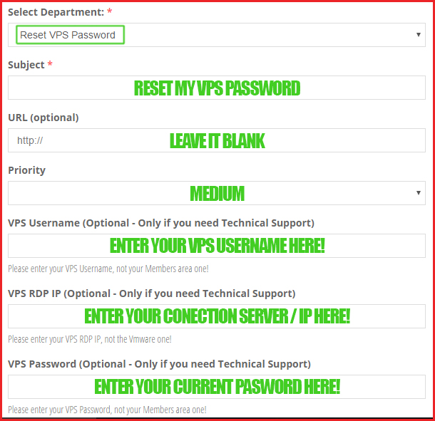 Super SEO VPS - Reset your VPS Password